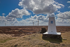 Hollin Hill Trig Point (mtwhitelock) Tags: clouds windfarm trigpoint brontecountry hollinhill