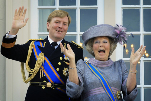 Willem Alexander and Beatrix