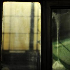 (SteffenTuck) Tags: light green window reflections dark mirror afternoon shadows interior melbourne inside shopfront nicholasbuilding steffentuck easter2012