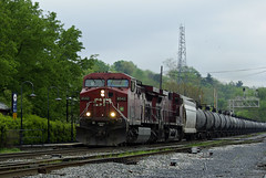 CP 8542- Q495 Detour (Photo Squirrel) Tags: railroad train maryland brunswick locomotive canadianpacific cp ge redbarn csx freighttrain railroadstructure brunswickmd tankcar railroadstation railroadcar railroadyard railroadsignal csxt freightcar ac44cw metropolitansubdivision frederickcountymd gelocomotive commuterrailstation cp8542 csxmetropolitansubdivision brunswickmarcstation brunswickmarcplatform brunswickrailroadstation northwbsignal q495