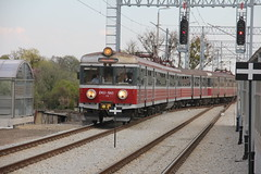 PR EN57-1045 + EN57-1020 , Wrocaw Lenica train station 26.04.2013 (szogun000) Tags: railroad station electric set train canon tren poland polska rail railway commuter emu pr passenger trem treno ezt regio wrocaw pkp pocig  lowersilesia dolnolskie dolnylsk en57 przewozyregionalne wrocawlenica en571045 canoneos550d canonefs18135mmf3556is d29275