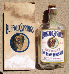 Old Pre - Prohibition / Prohibition Buffalo Springs Medicinal Whiskey Bottle / Box A (gregg_koenig) Tags: old vintage bottle buffalo box whiskey pre springs 1915 medicinal prohibition 1900s 1924