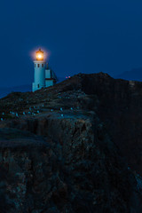 Anacapa Island Lighthouse at Deep Twilight in Channel Islands National Park (Lee Rentz) Tags: ocean california blue light sea cliff usa lighthouse nature water night america landscape evening coast twilight deep safety headlands northamerica beacon channelislands mainland headland anacapa lightstation santabarbarachannel channelislandsnationalpark anacapaisland eastanacapa eastanacapaisland anacapaislandlightstation anacapaislandlighthouse
