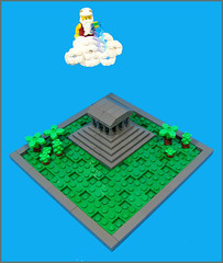The Wrath of Zeus (Karf Oohlu) Tags: temple lego zeus vignette greektemple moc microscale foitsop wrathofzrus