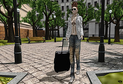 Weekend Trip (Wicca Merlin) Tags: new trip woman news art fashion pose hair enna blog 3d clothing model photographer modeling avatar formal style jewelry mandala blogger sneakers sl jeans secondlife sneaker casual elysium suitcase mayfair couture modelpose sporty mock formalattire highfashion newrelease virtualworld newreleases modelposes loq femaleclothing vintagejeans posesion slfashion 3dpeople slclothing buinsess slstyle modelingpose meshjacket modelingposes silkenmoon fashionposes wiccamerlin mayfairsim femalewear metavirtual fashioninpixels montissu meshjeans dahriel meshsneakers davidbeckhamlook ennaennaflatley
