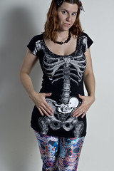 Day 2285 (evaxebra) Tags: baby shirt skeleton tshirt ribs bones fetus bone 365 tee teeshirt leggings 365days blackmilk evaxebra