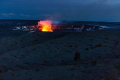 Halema'uma'u Crater (thefuton) Tags: travel nature night dark fire volcano hawaii crater hawaiivolcanoesnationalpark halemaumaucrater