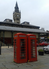 OKTO+ communications booths (Pickersgill Reef) Tags: clocktower darlington phonebox okto
