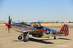 P-51_010 (Walt Barnes) Tags: history canon airplane eos airport fighter aircraft aviation wwii calif restored mustang concord p51 collingsfoundation 60d buchananairfield canoneos60d eos60d wdbones99