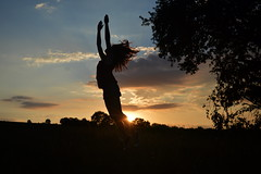 Dancer in the shadow (frogizlou) Tags: saut sunset soleil ombre gers calme nergie shadow campagne ciel sky jump soir dawn summer