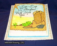 M00308 (merrittsbakery) Tags: cake western southern retirement desert cowboy boots