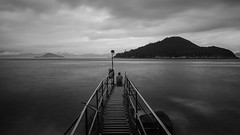 Sai Wan Swimming Shed (Lamuel Chung) Tags: bw bay swimmingshed lamuel chung hongkong monochrome mono lonely long exposure 10 stop nisi d7100 tokina1224 to