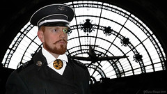 "Imperial Airship Captain ""Von Knnenberg"" reporting for duty (markusmae) Tags: airship captain cosplay steampunk alternative dimension scifi fictive photoshop photomerge airlander"