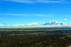 Mt. Drum (left) & Mt. Wrangell (right) (neukomment) Tags: august alaska canont5i copperriver wrangellmountianrange sky mountians wrangellsteliasnp creation nature