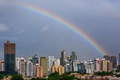Bairros da Pituba e do Caminho das rvores, avistados do STIEP, em Salvador  BA, Brasil (jeilsonandrade) Tags: salvador pituba stiep costaazul rainbow arcoiris salvadorbaha
