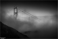 The Vanishing Bridge (Gemma - A Passionate Photographer) Tags: goldengatebridge sanfrancisco california smog