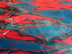 ...  du bord de l'eau. (CcileAF) Tags: canon water red blue reflections abstracts summer