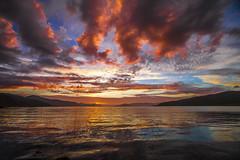 Last day of the midnight sun (stein380 Thanks for over 4,2!! million views) Tags: midnightsun midnattsol dfjord ringvassy tromsfylke troms nordnorge norway northognorway polar water reflection light sun night
