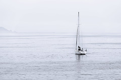 Sailing in the mist in the Rias Baixas in Galicia. (basair) Tags: portonovo spain ons island riadepontevedra pontevedra nauticalvessel fog nature morning mist dawn nonurbanscene tranquilscene outdoors beautyinnature blue sailingship sailboat sail sailing sea exploration mystery journey modeoftransport yacht beach water seascape sky bodiesofwater floatingonwater background wallpaper galicia sanxenxo direction recreationalboat sport