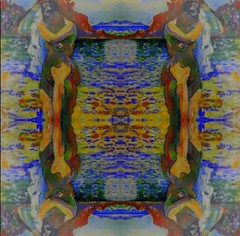 2016-08-21 symmetrical nude paintings 2JPG (april-mo) Tags: symmetry symmetrical nu nude painting art woman womanportrait body bodyart collage experimentaltechnique experimental french