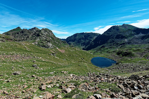 Trek Haute Ariège - jour 14 - étang de l'Albeille
