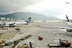 Cloudy day (A. Wee) Tags: hongkong hkg airport   china   cathaypacific airplane jet