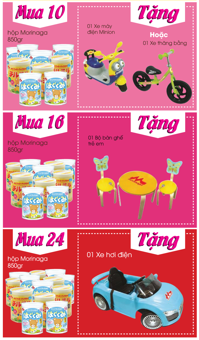 [TutiCare Hồ Chí Minh] Bé nhận quà hay khôn lớn từng ngày cùng sữa Morinaga (22/8-31/10)