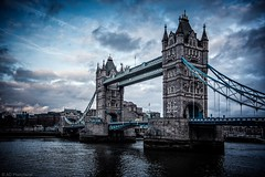 Towers and clouds (Anthony Plancherel) Tags: architecture category england london nonbuilding places riverthames towerbridge travel canon70d sigma1020mm canon travelphotography architecturephotography bridge construction buildingstructure outdoor outdoors outside landmarks britain famousplaces greatbritain british english river thames city capitalcity clouds sky cityscape vignette