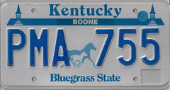 PMA 755 (JohnathanBaker) Tags: kentucky license plate