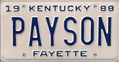 PAYSON (JohnathanBaker) Tags: kentucky license plate vanity