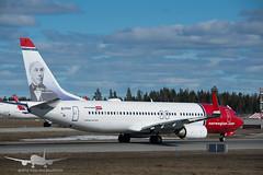 Norwegian - EI-FHV - B737-800 (Aviation & Maritime) Tags: eifhv norwegian norwegianairinternational norwegianair boeing boeing737 b737 b737800 boeing737800 osl engm osloairportgardermoen oslolufthavngardermoen osloairport gardermoen norway