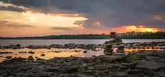Brebeuf Park : September 18, 2016 (jpeltzer) Tags: ottawa gatineau ottawariver inuksuk sunset brebeufpark