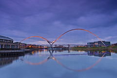 Infinity at Dusk. (paul downing) Tags: pauldowning pd1001 pauldowningphotography nikon d7200 sunset dusk infinitybridge rivertees stocktonontees reflections clouds hitech gnd 12 filters