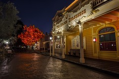 If the Horseshoe fits.. (Mstraite) Tags: disneyland frontierland tree halloween october fall street concrete reflection orange canon tamron photoshop night dark longexposure blended ray close