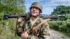 FJR5-18 (Andy Darby) Tags: bosworthfjr5 bosworth battlefield railway battlefieldrailway fjr5 fallschirmjager german reenactment uniform k98 mg42 ppsh41 marching war andydarby