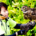 Vermiculated Eagle Owl, Abi  and Bird Master Girl : アビシニアンワシミミズク、アービーとバードショーのお姉さん