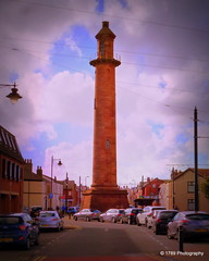 Pharos Lighthouse (Rollingstone1) Tags: pharoslighthouse column tower sky architecture fleetwood england town city street cars urban victorian clouds outdoor skyline