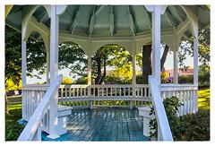 Gazebo (Timothy Valentine) Tags: 0816 panorama vacation 2016 bench monday yarmouth novascotia canada ca