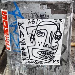 upload (collations) Tags: instagramapp square squareformat iphoneography uploaded:by=instagram newyork newyorkcity nyc graffiti slaps stickers raebk