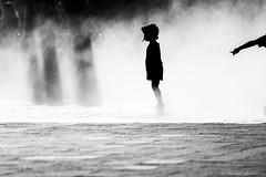 Catch me! (dalibor.papcun) Tags: silluete blackandwhite budapest fog citylife baby monochromat bw streetphoto streetbudapest