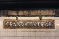 Grand Central Tile Mosaic (lefeber) Tags: newyork newyorkcity nyc city urban architecture building interior grandcentralterminal subwaystation underground mosaic tiles wall