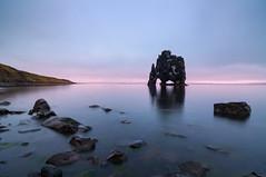 The meeting with the stone troll (Pavel Lunkin) Tags: iceland stormbrothers hvitserkur fjord sea ocean seascape atlantic north calm dawn sunrise rocks stones nikon d90 travel discoveryphotos flickrtravelaward infinitexposure