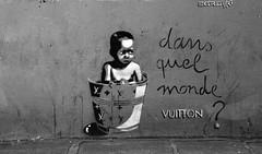IMG_3531 LV (WORLD OF FMR) Tags: louis vuitton louisvuitton street art paris noiretblanc monochrome people homeless abandon canon blackandwhite