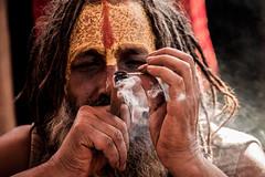 Smoke @ kumbh (Ray Frames) Tags: india smoke sadhu kumbhmela kumbh maghmela kumbhmelaphotos kumbhmela2013