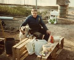 A man and his dog (wallygrom) Tags: england dog candy westsussex angmering mikerowe freshacres roundstonelane freshacresnurseriesltd bramleygreen