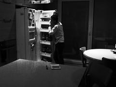 Midnight (TLV and more) Tags: blackandwhite bw dark highcontrast midnight refrigerator ricoh s10 gxr