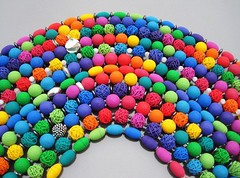 Regenbogenvariationen (creafimo) Tags: handmade fimo clay schmuck regenbogen perlen kette polymer ketten