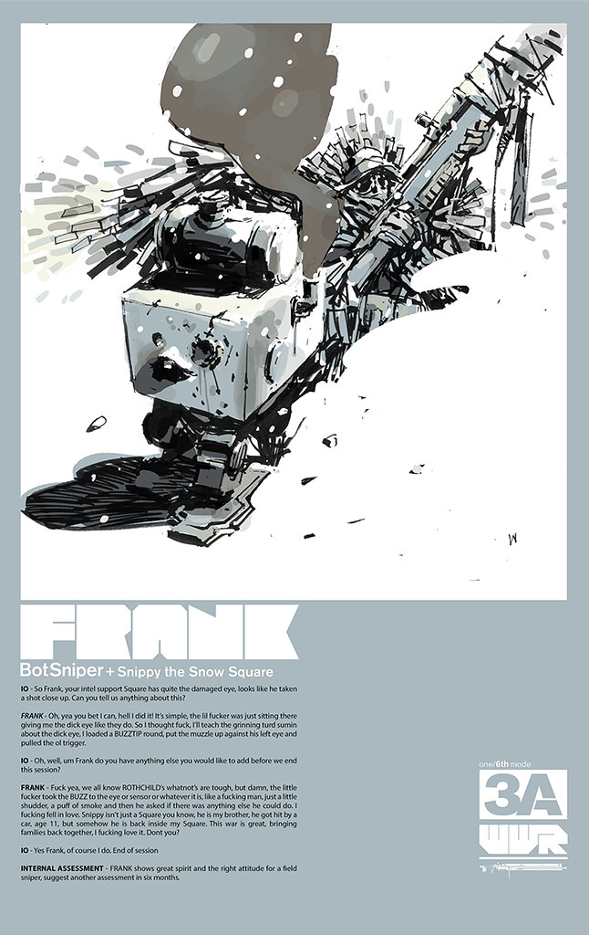 threeA - WWR Frank the BotSniper & Snippy the Snow Square