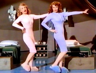 Rita Hayworth (R) and Janet Blair - in ''Tonight and Every Night'' 1945