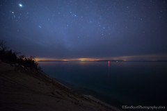 Manitou Islands ... under the stars (Ken Scott) Tags: usa stars spring twilight michigan lakemichigan greatlakes april freshwater voted leelanau thecrib 2013 manitouislands sbdnl sleepingbeardunenationallakeshore mostbeautifulplaceinamerica pyramidpointviewfrom sunsetat817pmthisshotat953pm
